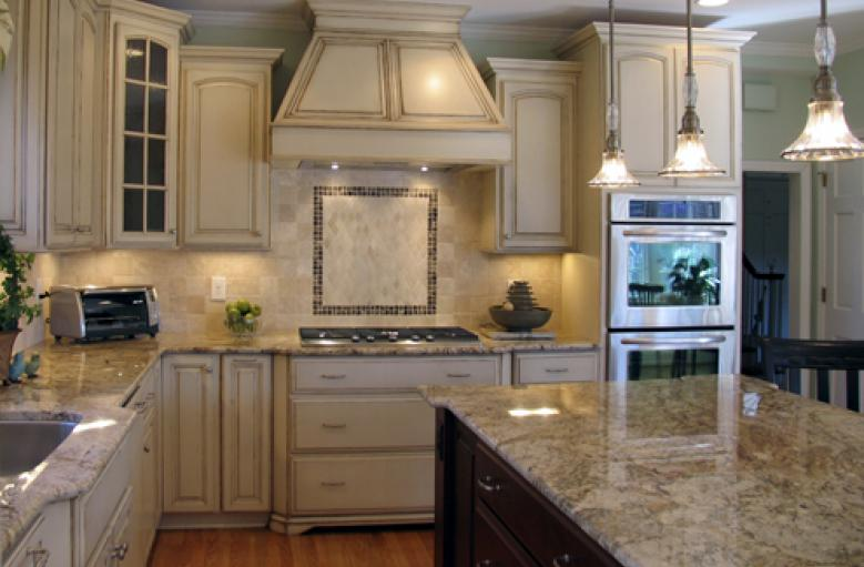 White Distressed Kitchen Cabinets - cosbelle.com